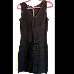 Bebe Bodycon Black Dress | Size: M